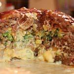 Die BBQ-Torte im Anschnitt