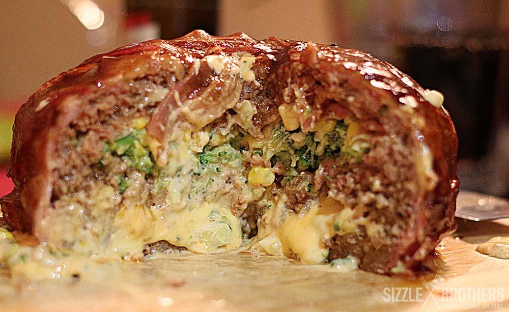 BBQ-Torte-Anschnitt
