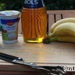 Zutaten für die gegrillte Banane