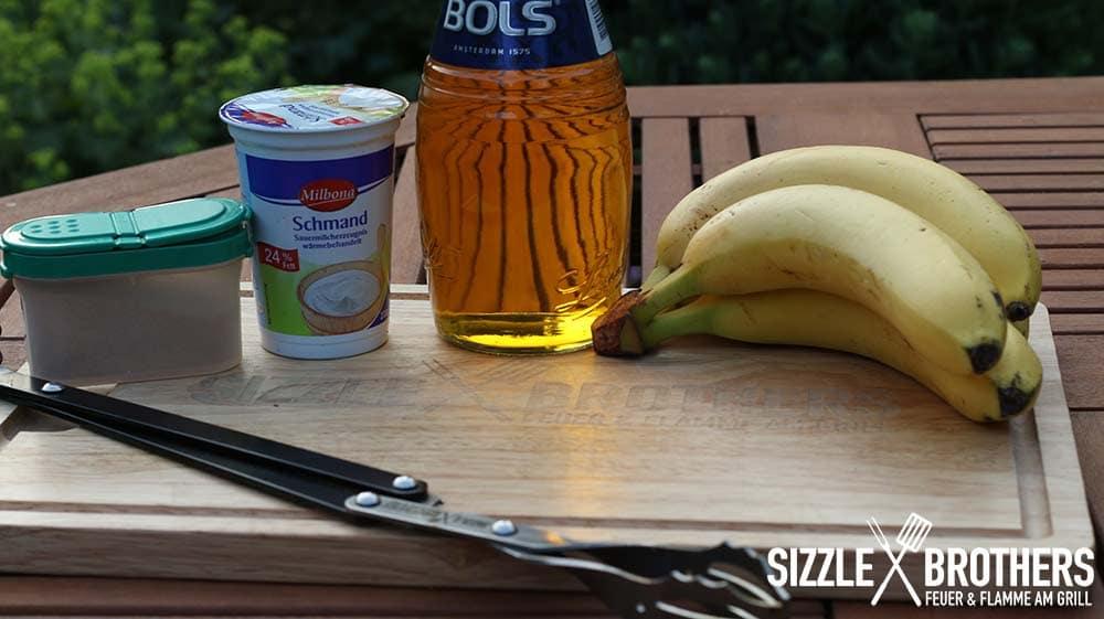gegrillte-Banane-Zutaten