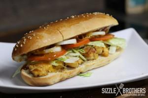 Das fertige Chicken Teriyaki Sandwich