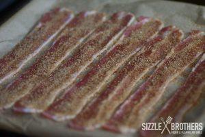 Bacon Eis in der Vorbereitung. Spart nicht am Zucker!
