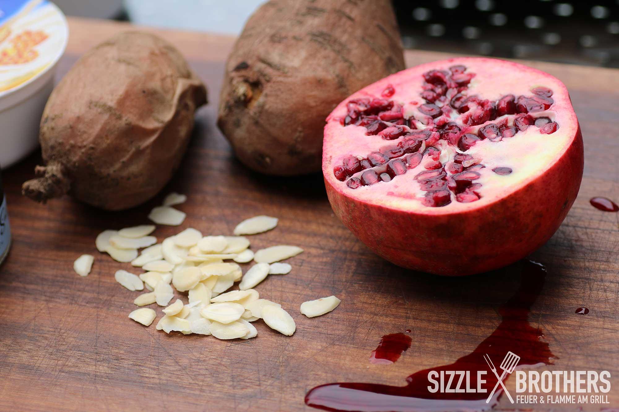 Suesskartoffel-Granatapfel