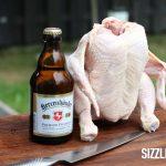 Das Beer Can Chicken im Ausgangszustand