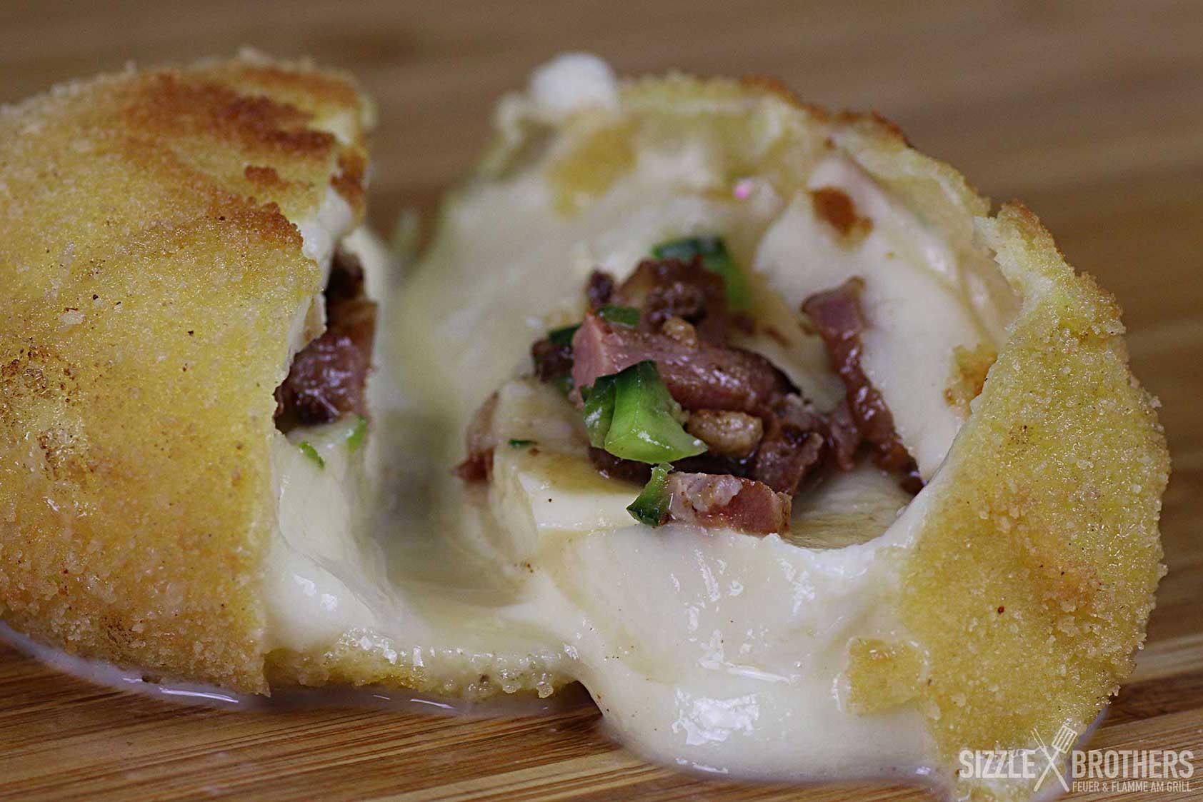 Frittierter Mozzarella von seiner besten Seite