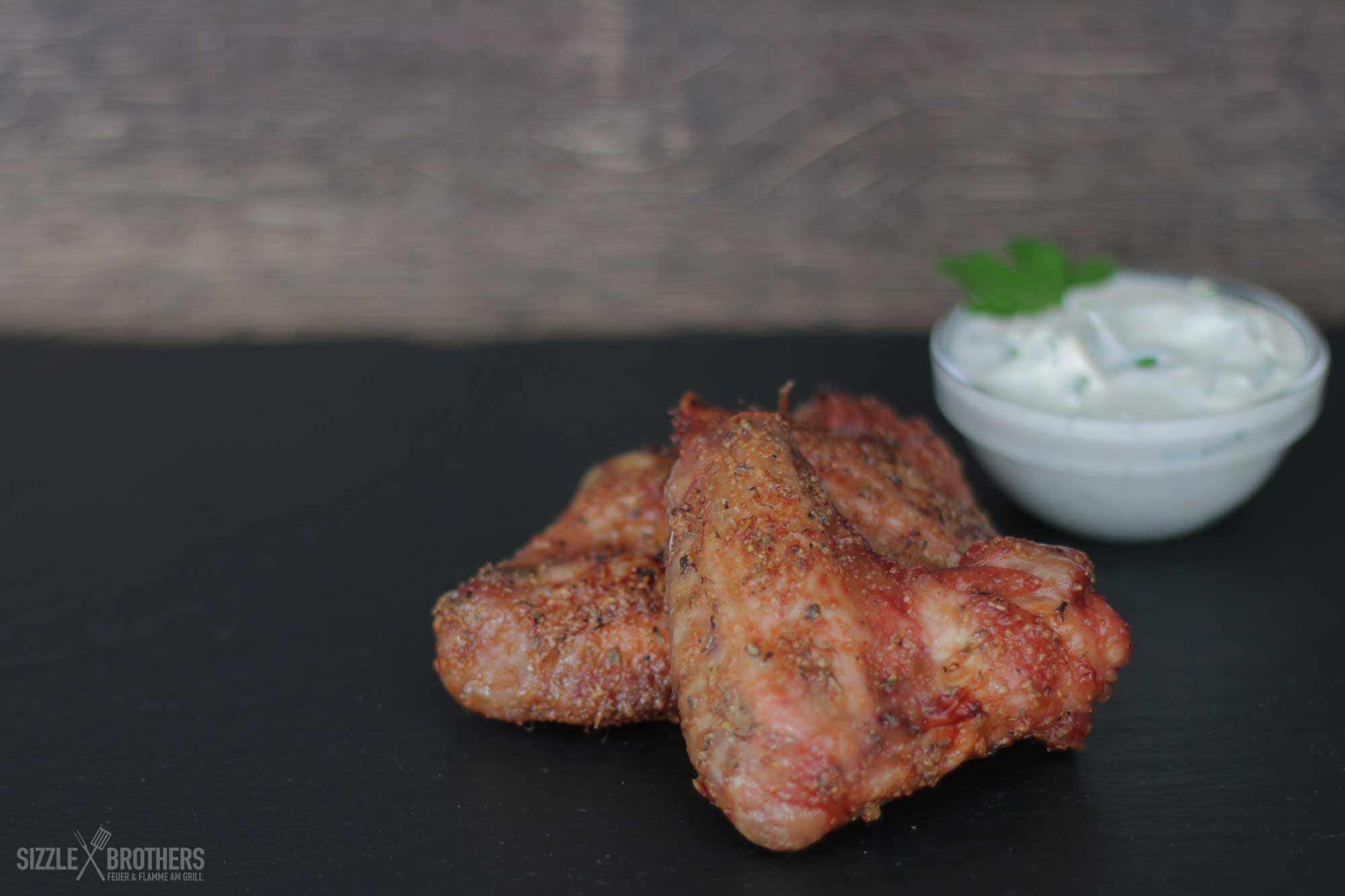 Chicken Wings mit Blue Cheese Dip