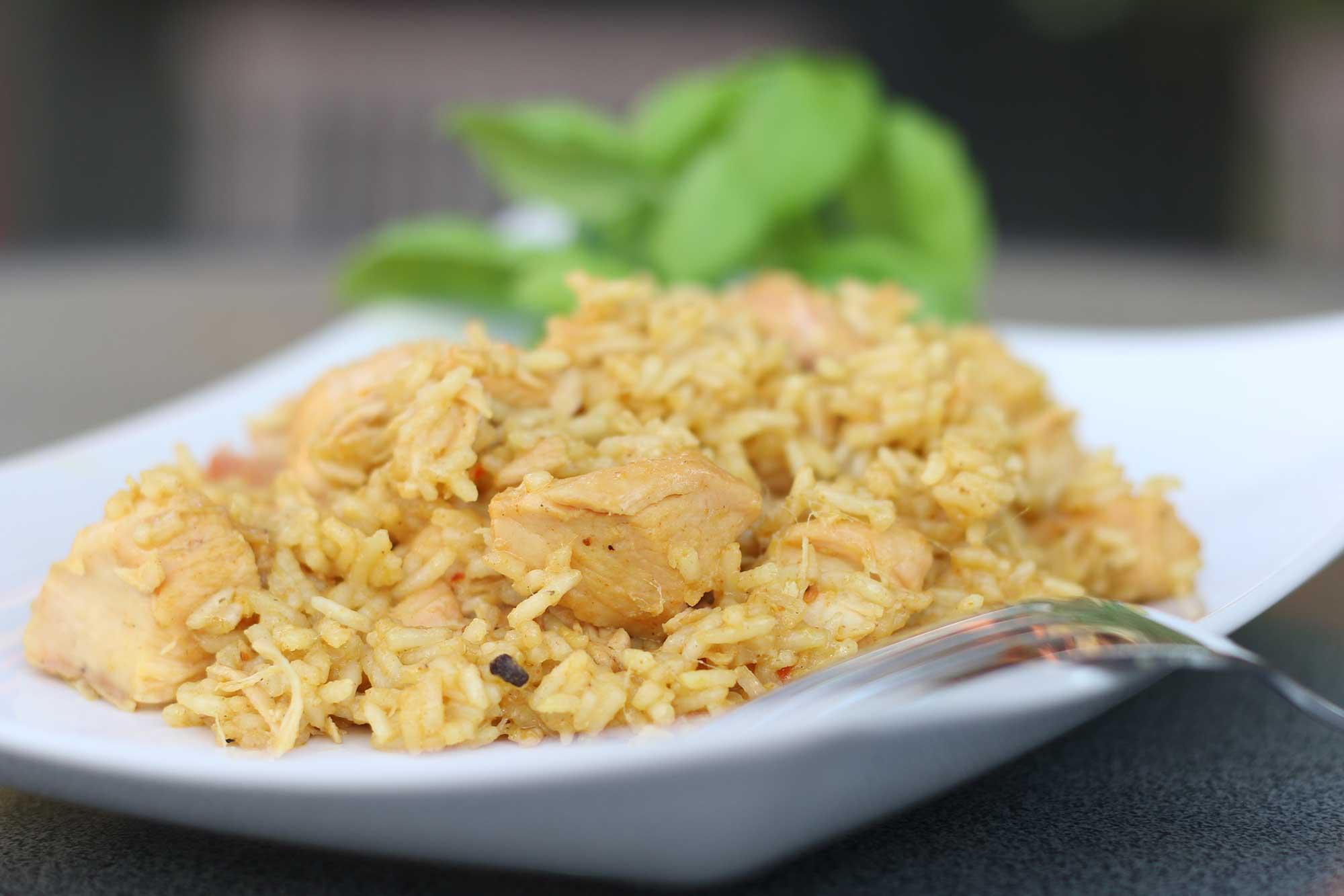 Hähnchen Curry vom Grill