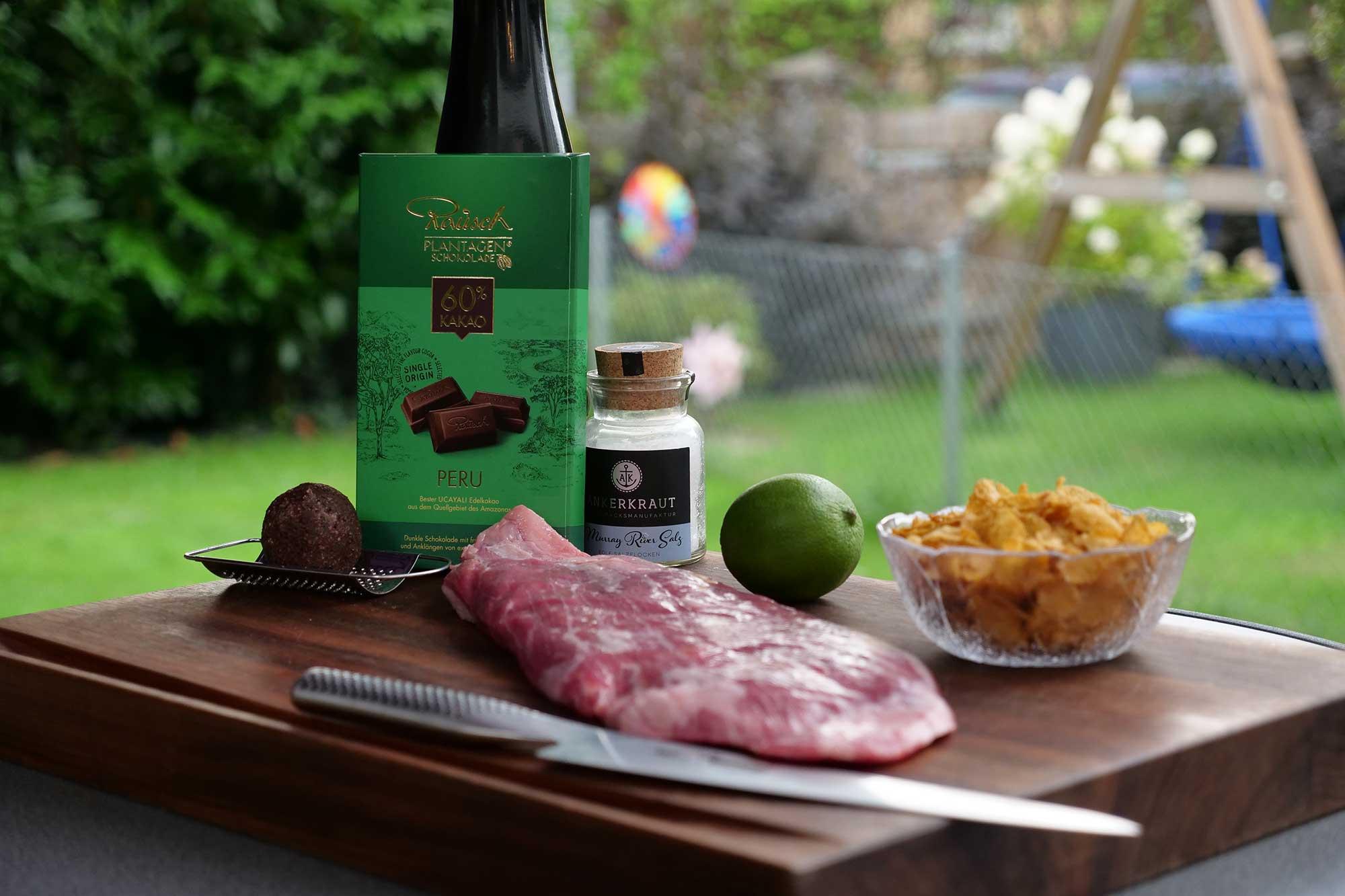 flank steak grillen mit schoko limetten flakes so geht 39 s. Black Bedroom Furniture Sets. Home Design Ideas