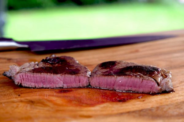 Kobe Beef grillen - das Filet ist perfekt geworden