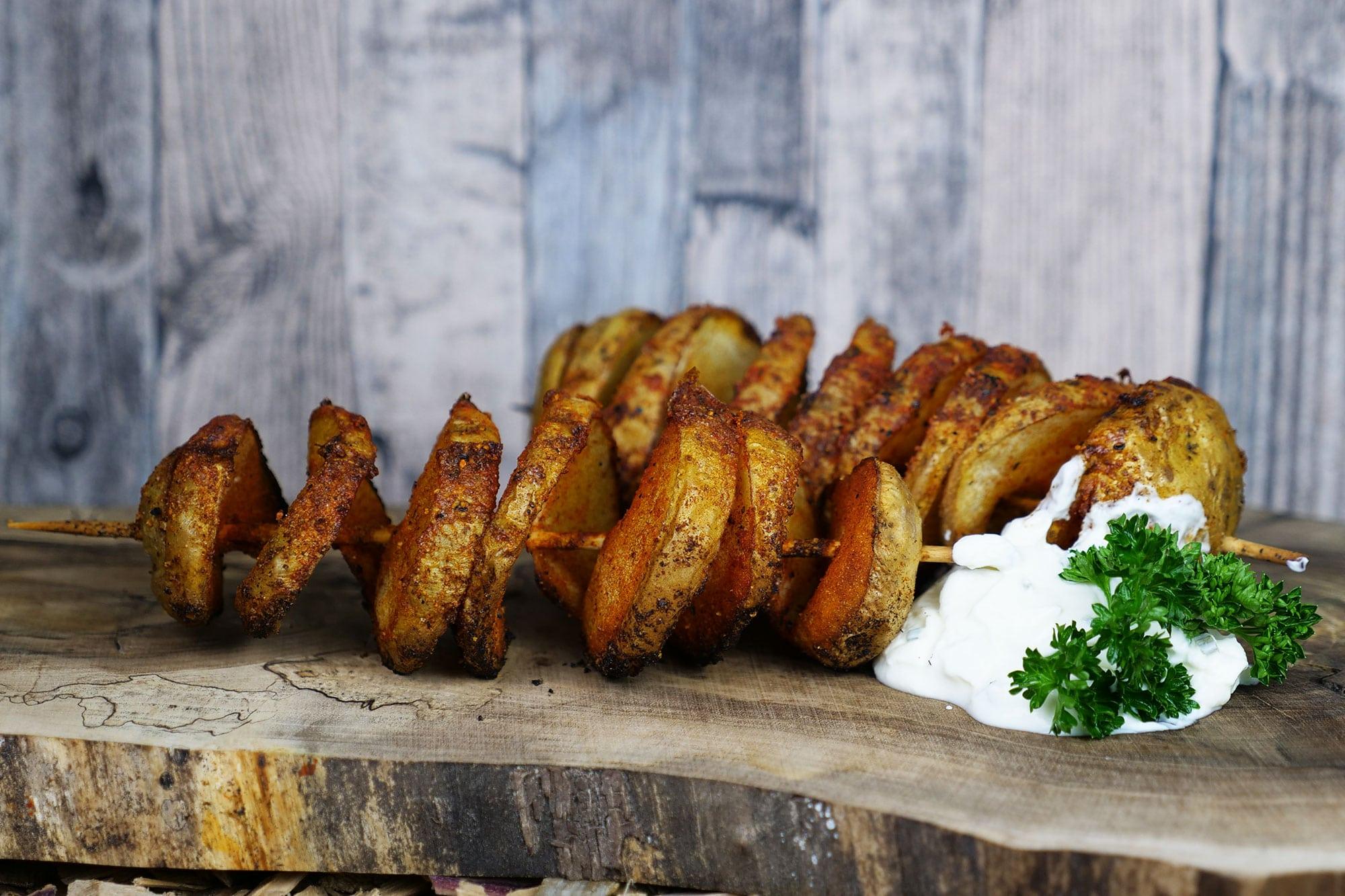 Kartoffelspirale bzw. Tornadokartoffeln sind einfach lecker