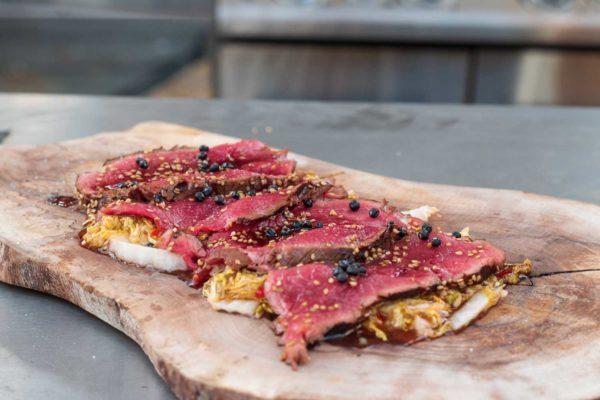 Tataki vom Rind mit highspeed Kimchi