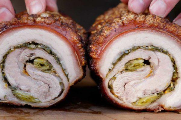 Porchetta – Schweinerollbraten vom Drehspieß