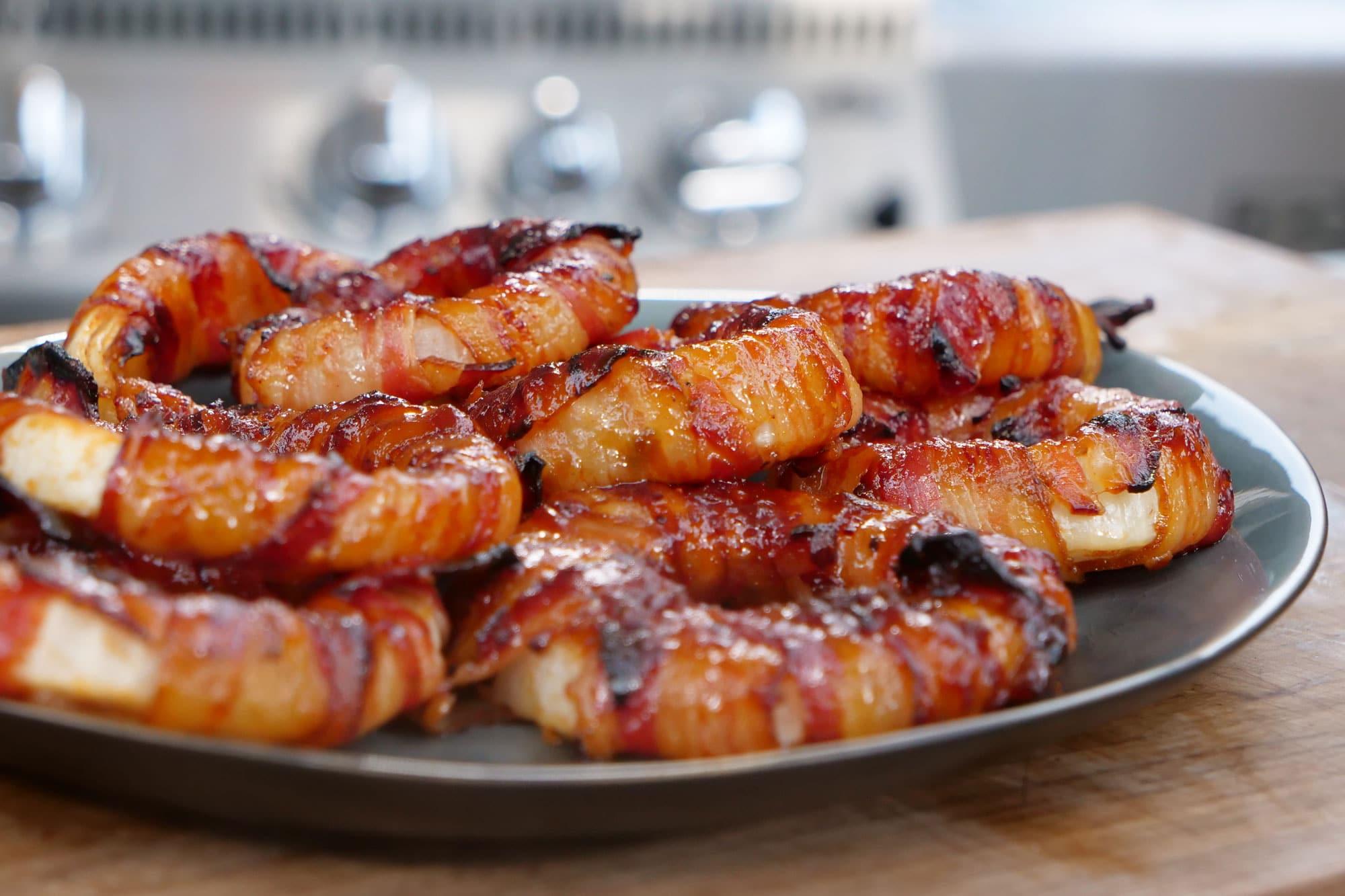 Bacon Zwiebelringe Rezept | Zwiebelringe selber machen
