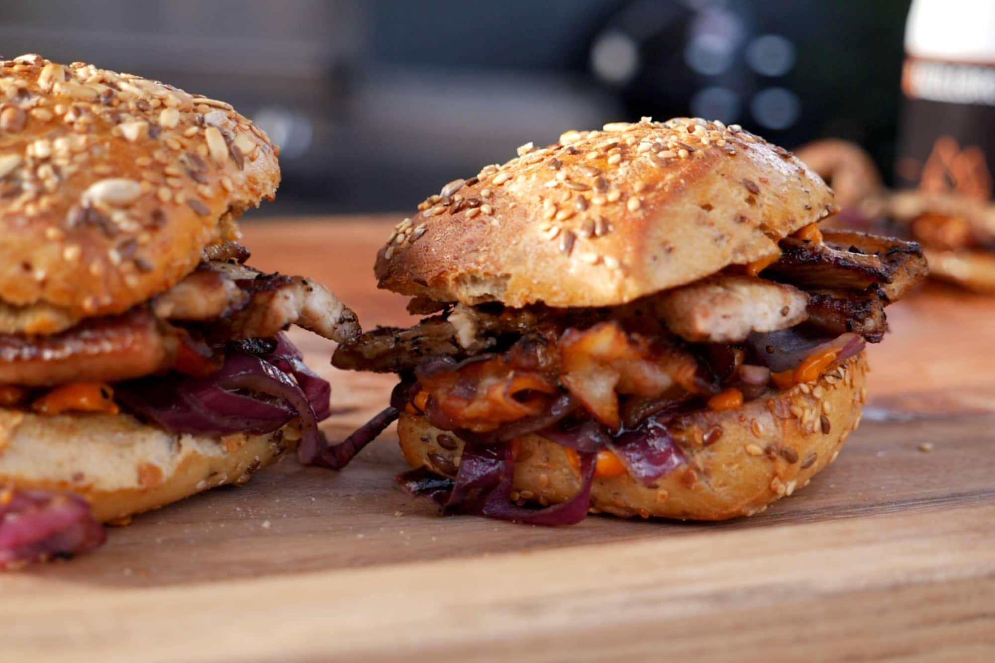 Bauchfleisch Bacon Burger – Plancha Rezept