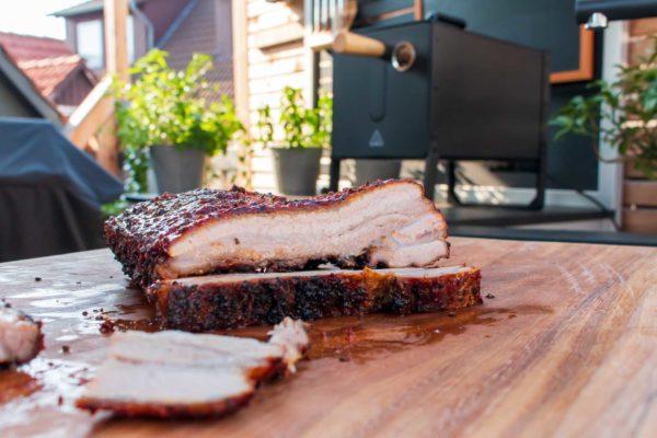 Der Smoked Pork Belly im Anschnitt