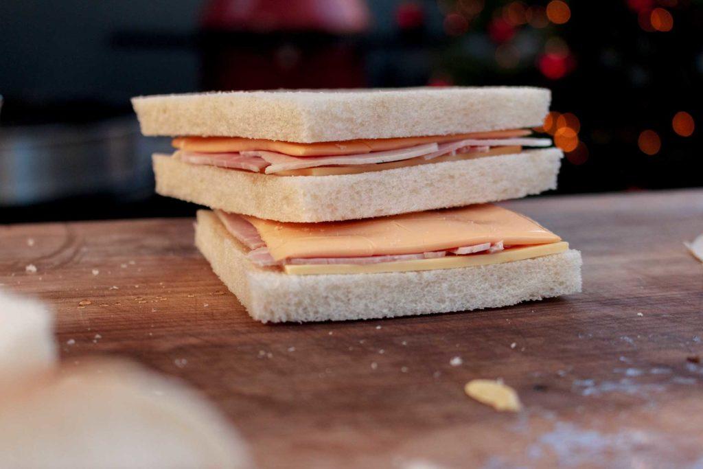 Das Monte Cristo Sandwich kann gegrillt werden