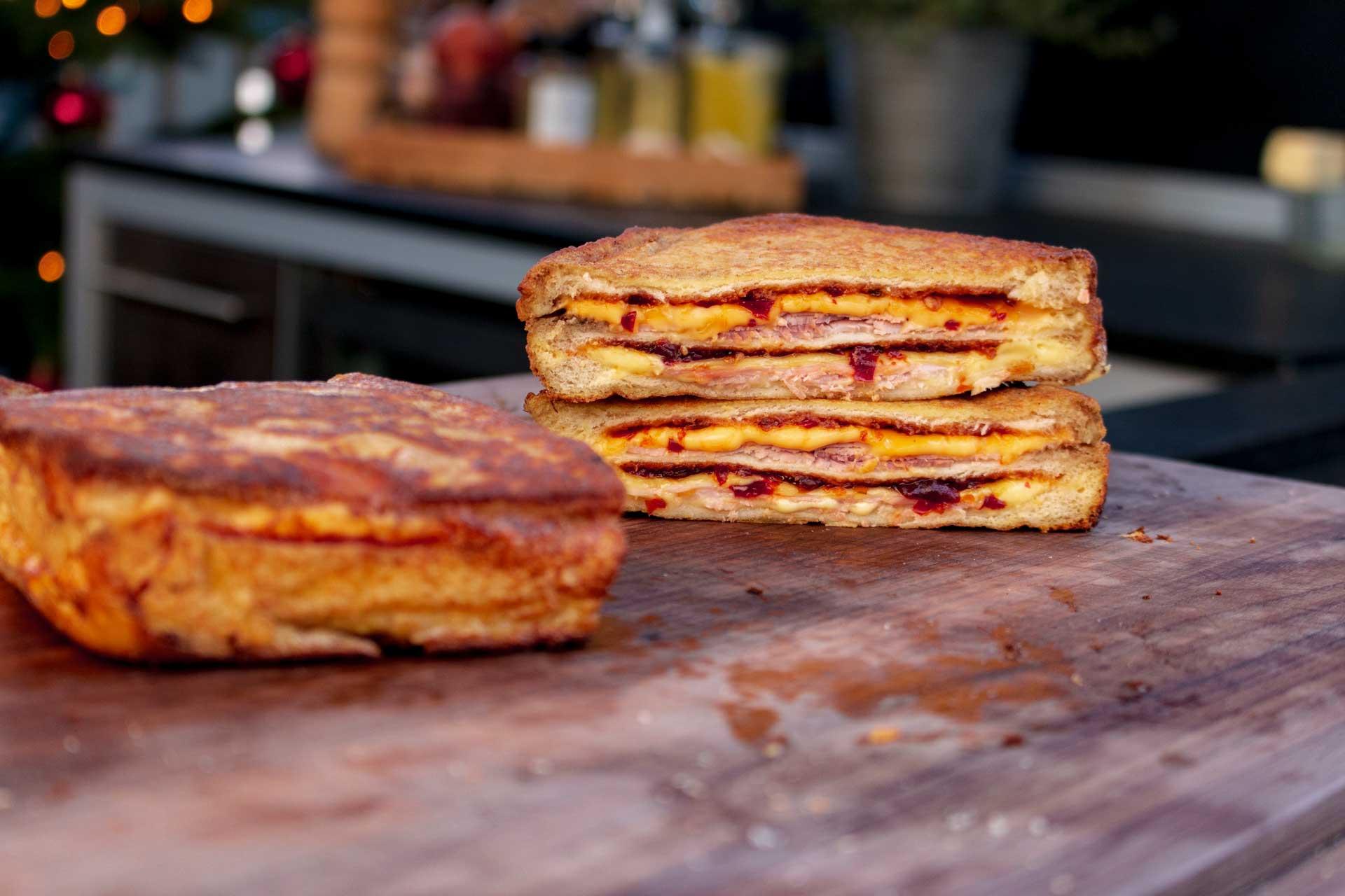 Das fertige Monte Cristo Sandwich