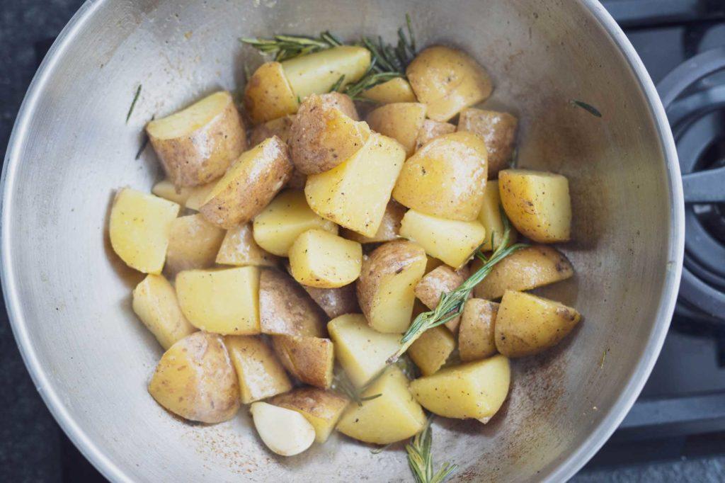 Leckere griechische Kartoffeln sind auch leicht gemacht