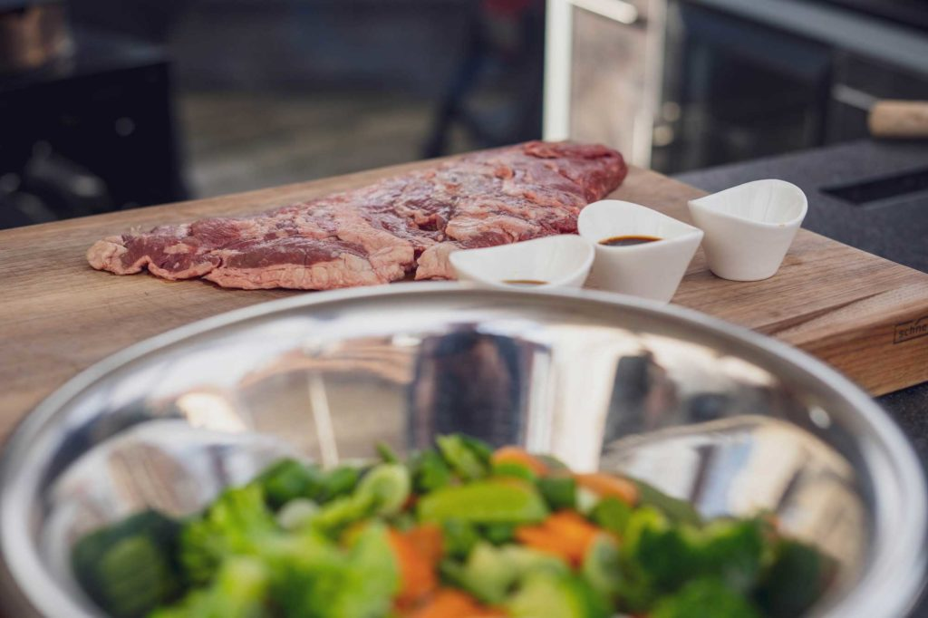 Flap Meat mit Asia Wok Gemüse
