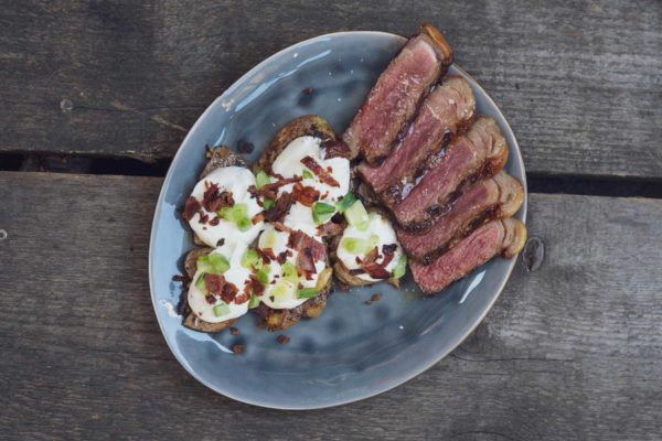 Smashed Potatoes mit Marmeladensteak