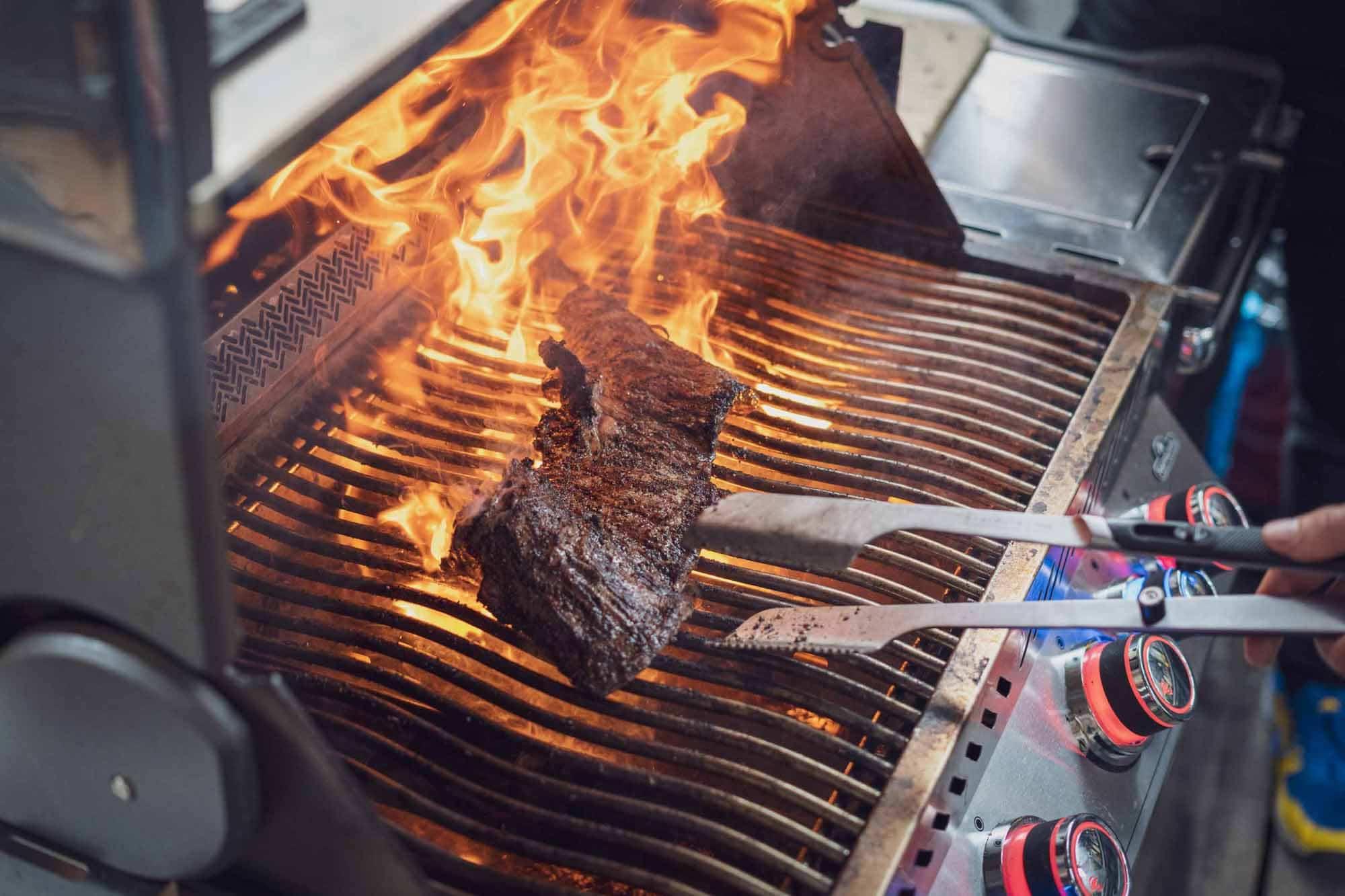 Wir haben ein geniales Skirt Steak gegrillt für die Füllung der Tortillas